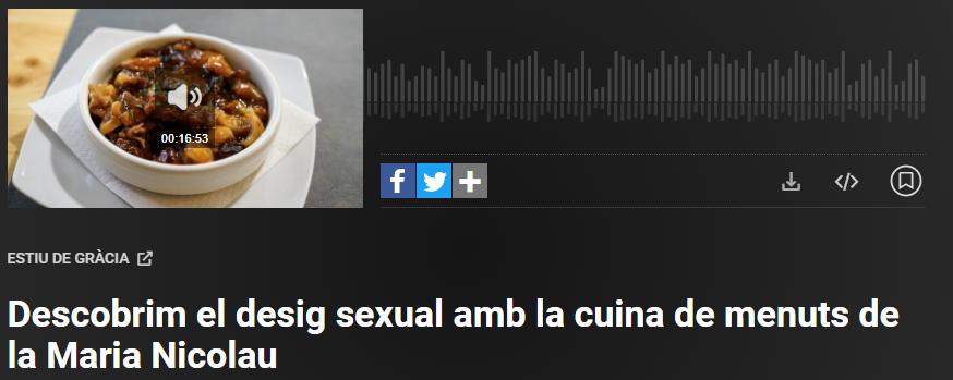 Que Déu ens agafi havent dinat: la nova secció del programa de Catalunya Ràdio Estiu deGràcia